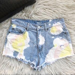 BDG Dree High Rise Cheeky Cutoff Denim Shorts